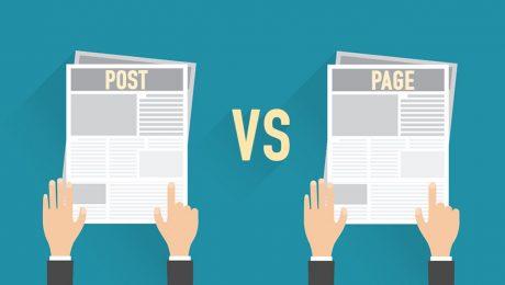 Perbedaan Post dan Page pada WordPress