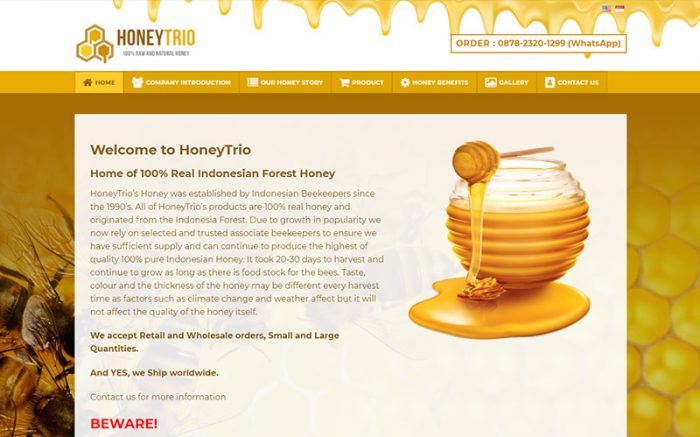 jasa website bandung honey-trio