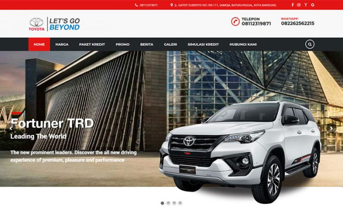 jasa-website-bandung-toyota