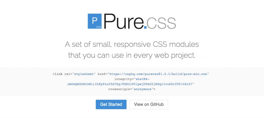 Framework CSS Terbaik Untuk Pengembangan Website - Pure CSS